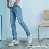 【OBIYUAN】牛仔褲 高質感 大彈力 韓系刷色 單寧 長褲 共1色【HK4185】