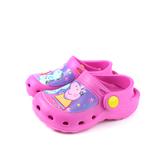 粉紅豬小妹 Peppa Pig 花園鞋 涼鞋 童鞋 桃紅色 中童 PG0094 no851