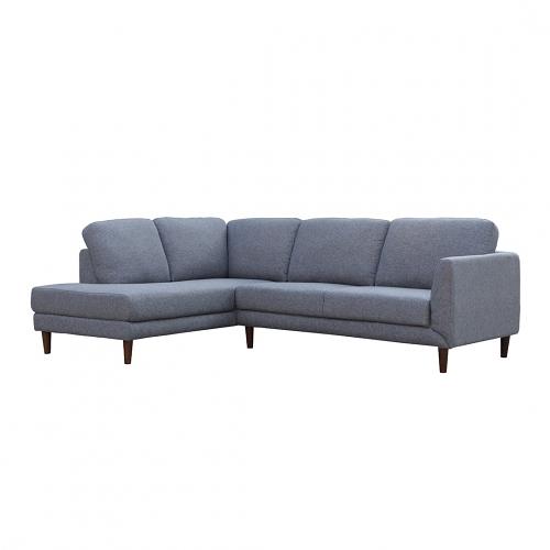 【歐雅居家】瓦爾轉角布沙發-L型面左-淺灰藍 / 沙發 / 布沙發 /三人沙發 / 12層內材