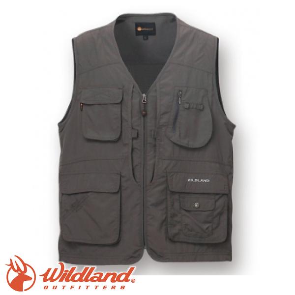 【Wildland 荒野 中性透氣UV多口袋背心《深霧灰》】W1706/吸濕快乾/輕薄耐磨/UV30+
