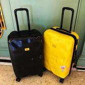 行李箱 旅行箱子行李箱ins網紅拉桿箱女萬向輪男凹凸皮箱個性T 5色