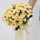 新款婚紗影樓攝影拍照道具手捧花 新娘結婚香檳仿真韓式婚禮花束 初見居家