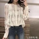 流行韓版寬鬆蕾絲上衣心機百搭外穿設計感小眾洋氣襯衫女春季 安妮塔小鋪