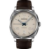 Anonimo EPURATO義式經典機械腕錶-奶油白/42mm