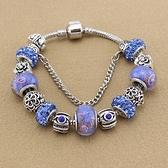 串珠手環-精緻鑲鑽復古熱銷琉璃飾品女配件73kc246【時尚巴黎】