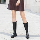 夏季柔軟輕便時尚雨靴女長筒水鞋高幫防水膠鞋韓國可愛高筒雨鞋女 漾美眉韓衣