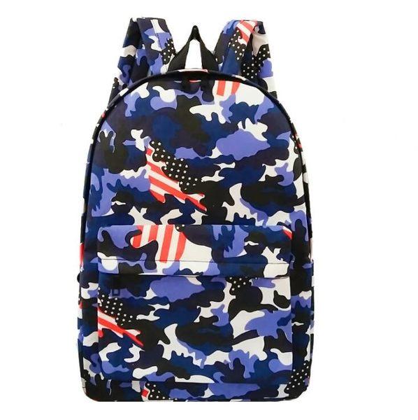 [24H 現貨快出] 雙肩包 日韓 男士 背包 學院 復古 戶外 大容量 迷彩 書包 後背包