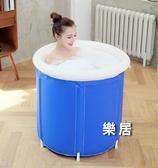 折疊泡澡桶 大人家用全身充氣洗澡桶加厚浴缸沐浴盆塑料兒童澡盆JY【快速出貨】