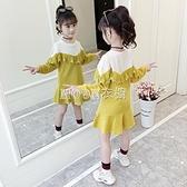 童裝春裝女童衛衣裙2021新款小女孩春洋氣洋裝網紅兒童裙子潮 母親節特惠