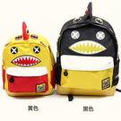 韓國Lemoinkid卡通鯊魚雙肩背包/書包-中款 2色【K508124-1】