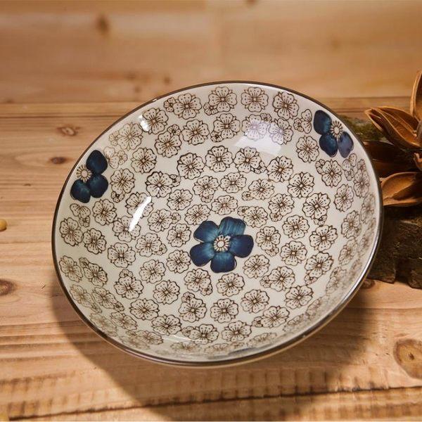 日式釉下彩餐具陶瓷盤子牛排盤西餐盤
