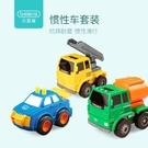 挖掘機寶寶玩具小汽車工程車套裝吊車攪拌車兒童消防車男孩0-3歲
