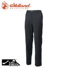 【Wildland 荒野 男 彈性保暖休閒長褲《黑》】0A62308/運動褲/休閒褲/雙彈/登山