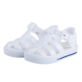 IGOR 西班牙經典果凍鞋-童-白/白
