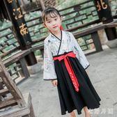 中大尺碼女童漢服儒裙套裝秋裝兒童唐裝改良女寶寶復古裝sd2236【衣好月圓】