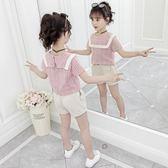 女童套裝新款韓版夏裝兒童時髦中大童運動短袖兩件套洋氣潮歐歐歐流行館