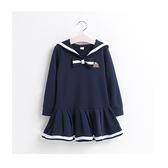 女童海軍學院風連身裙