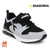 【Diadora 迪亞多那】大童款休閒慢跑鞋 -灰黑色(D6168)全方位跑步概念館
