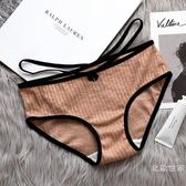 女士內褲女純棉襠100%全棉中低腰性感提臀無痕少女透氣大碼三角褲