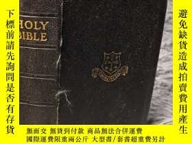 二手書博民逛書店THE罕見HOLY BIBLE CONTAINING THE OLD AND NEW TESTMENTS 全皮裝幀