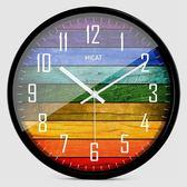 降價兩天-歐式創意木大號靜音掛鐘現代時尚客廳個性臥室石英時鐘錶RM