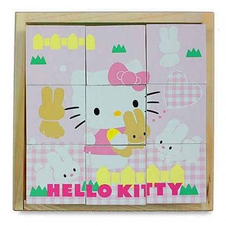 HELLO KITTY 可愛方塊拼圖(木製)【六甲媽咪】