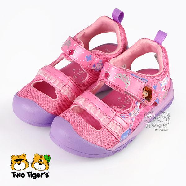 日本月星 MoonStar 迪士尼 蘇菲亞公主 護趾涼鞋 粉色 小中童 NO.R4031