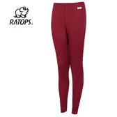 丹大戶外【Ratops】瑞多仕 觭龍 女款 THERMOLITE 長刷毛保暖長褲 DB4531 草莓紅色