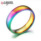 彩虹戒指 Z.MO鈦鋼屋 同性戒指 LGBT 同志平權 對戒 多元成家 白鋼戒指 【BGS105】單個價