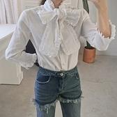 個性長袖襯衫-時尚潮流大方蝴蝶結女上衣2色73hs34【時尚巴黎】
