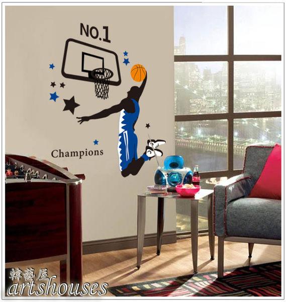 B1940【灌籃球高手】環保創意壁貼