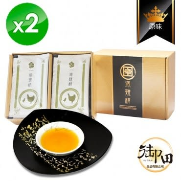 【御田】頂級黑羽土雞精品手作原味滴雞精(10入禮盒x2盒)