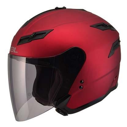 [東門城] SOL SO-1 素色 消光紅 3/4罩安全帽