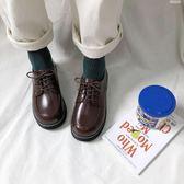 娃娃鞋日繫復古女平底單鞋學生原宿圓頭娃娃鞋百搭韓版學院風英倫小皮鞋 【5月驚喜】