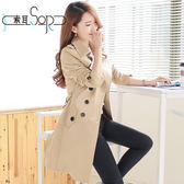 裝新款風衣女中長款韓版修身顯瘦大碼女裝女式大衣外套『潮流世家』