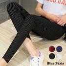 藍色巴黎 ★ 直條造型彈性緊身窄管褲 小...