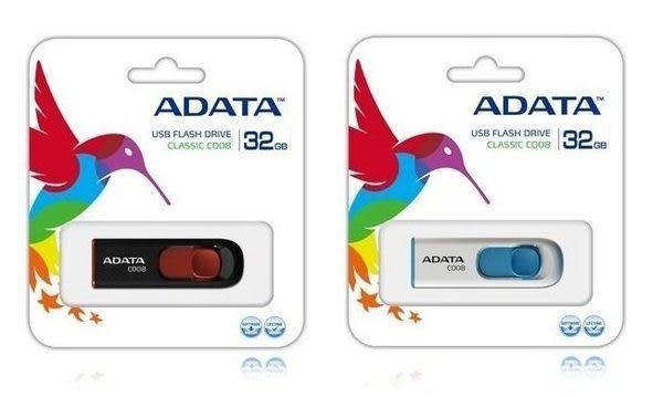 [哈GAME族]現貨 可刷卡 威剛 ADATA C008 32GB 藍白 日系簡約隨身碟 USB 2.0 32G 現貨 威剛