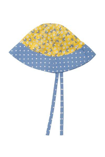【英國Frugi】有機棉寶寶帽 / 遮陽帽 -夏日花卉(正反兩面皆可戴) HAS507
