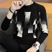 男士毛衣加絨加厚冬2019新款潮流秋季線衣男裝上衣服保暖針織衫-ifashion