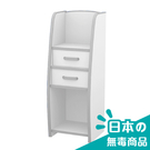 書櫃 收納【收納屋】小木偶二抽收納櫃-白&DIY組合傢俱