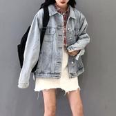 原宿風寬鬆牛仔外套女秋季 2020韓版chic工裝夾克牛仔上衣