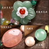 東陵玉手鏈女韓版水晶手串民族風復古學生森系手飾閨蜜首飾