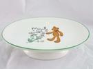 【震撼精品百貨】日本泰迪熊 ~ 陶瓷肥皂盤『白底綠邊-花』