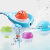 兒童撈魚玩具投籃玩具套裝兒童戲水噴水玩具男孩女孩洗澡玩具