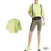 Puma Evide 陽光綠 女款 流行系列 短版 短袖T恤 運動 休閒 透氣 慢跑 短袖 上衣 59629831