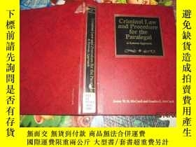 二手書博民逛書店Criminal罕見Law and Procedure for the Paralegal 見圖書名 59-6