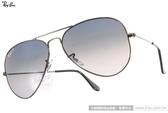 RayBan 太陽眼鏡 RB3025 00478 -58mm (槍銀-黑) 經典飛官偏光款 # 金橘眼鏡