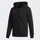 Adidas ROSE FLE FZ 男裝 外套 連帽 休閒 兩側口袋 棉質 玫瑰 黑【運動世界】GE2928