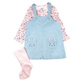 Carter s卡特 吊帶裙+長袖T恤+褲襪 三件組 綠貓咪   女寶寶套裝(嬰幼兒/兒童/小孩)