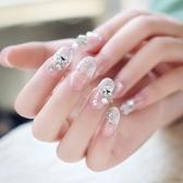 背膠 可拆卸膠水美甲假指甲貼片 影樓婚紗結婚新娘成品甲片穿戴甲 快速出貨
